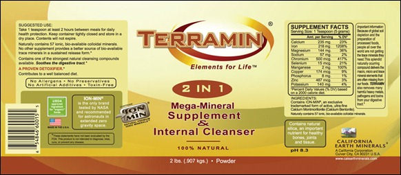 terramin label